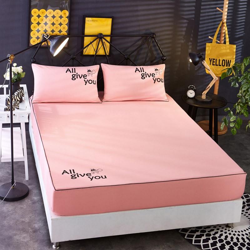 18米 夏天防滑床罩床垫席梦思护套罩单四件套纯色