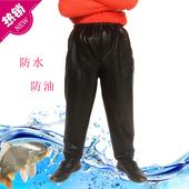 男士皮裤防油防水工作裤屠宰水产皮裤机车皮裤洗车皮裤修车裤