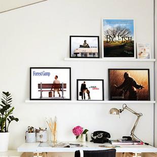 励志经典原版电影海报横版有框画挂画墙画壁画版画酒吧饭厅办公室