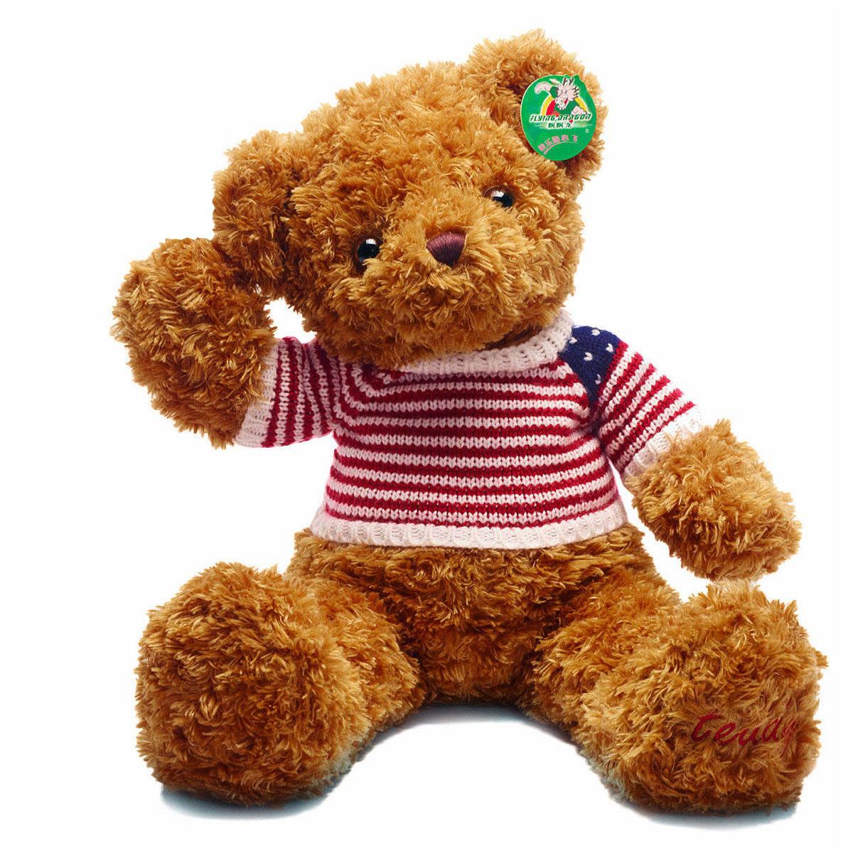 飘飘龙泰迪熊毛绒玩具女生生日礼物公仔可爱娃娃抱抱熊玩偶靠垫