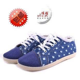 老北京布鞋女 鞋子女夏 女单鞋新款平底 田园风款学生鞋 佳福