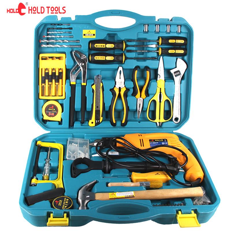 包邮正品67件套家用电动工具套装家装修组套多功能电钻五金工具箱