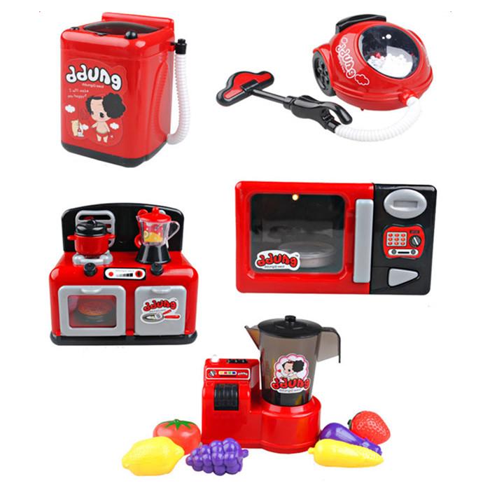 儿童过家家玩具冬已富达尔女孩玩具迷你家电套装6 电动发声发光