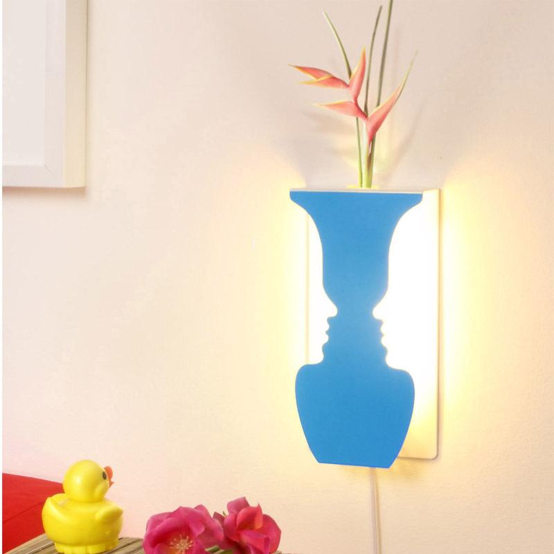 闪迪家居LED带光源花香创意人面LED灯装饰灯过道灯创意摆件