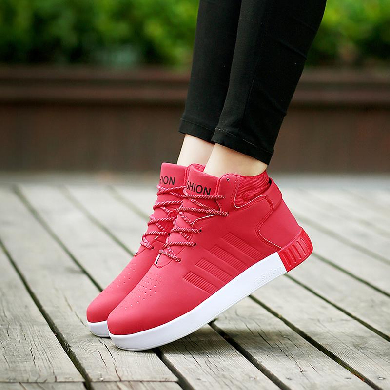 雅煊甜美时尚高帮板鞋夏季休闲运动鞋韩版情侣潮女鞋加毛保暖棉鞋