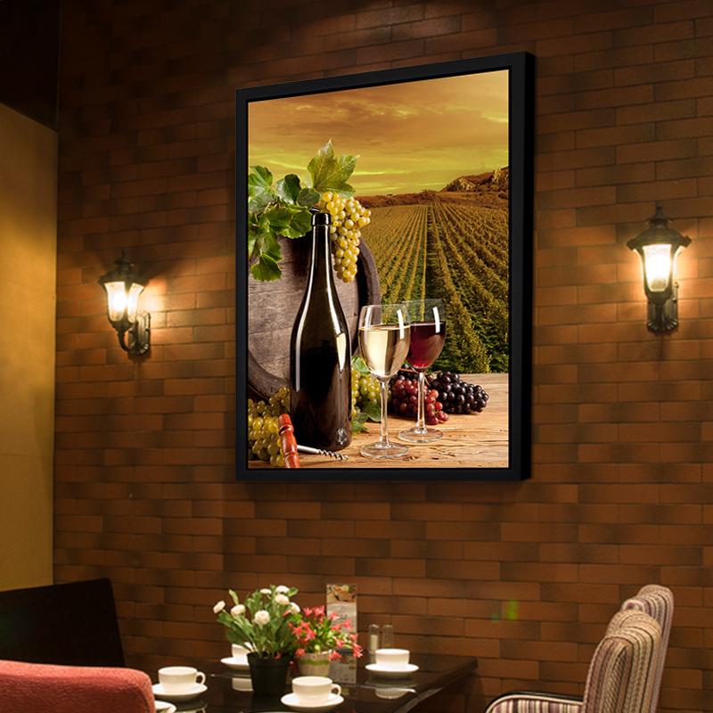 装饰画现代简约欧式客厅背景墙挂画饭厅组合有框酒吧