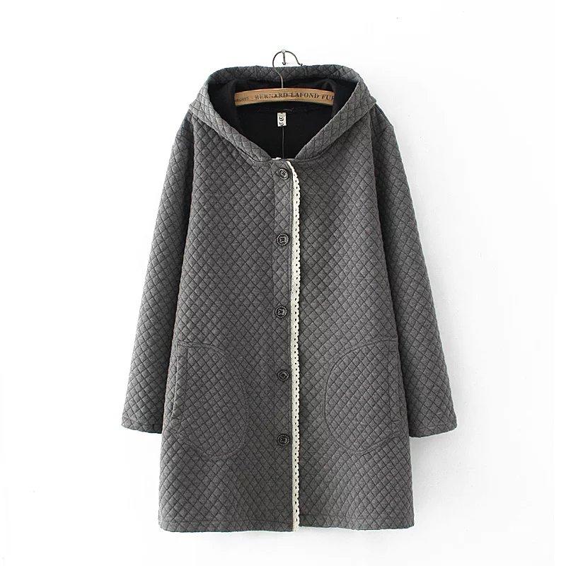彈力女裝棉衣棉襖mm秋冬長款加大寬松外套