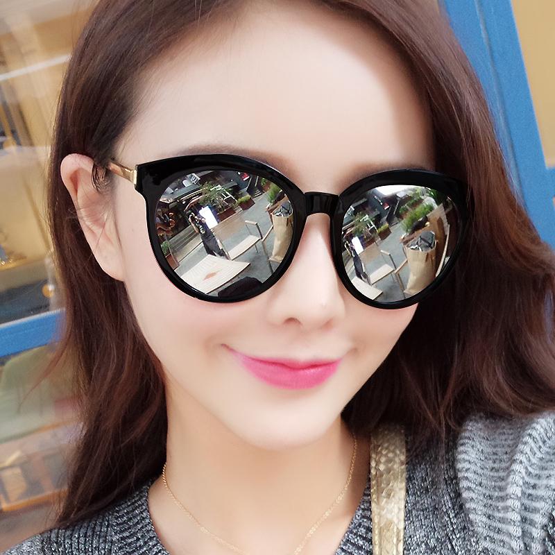 明星时尚墨镜太阳眼镜圆脸个性款网红太阳镜韩国
