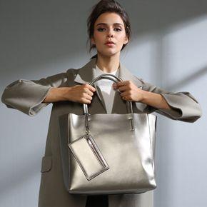 包包2016新款单肩包女大包包大容量欧美女士简约手提单肩牛皮女包