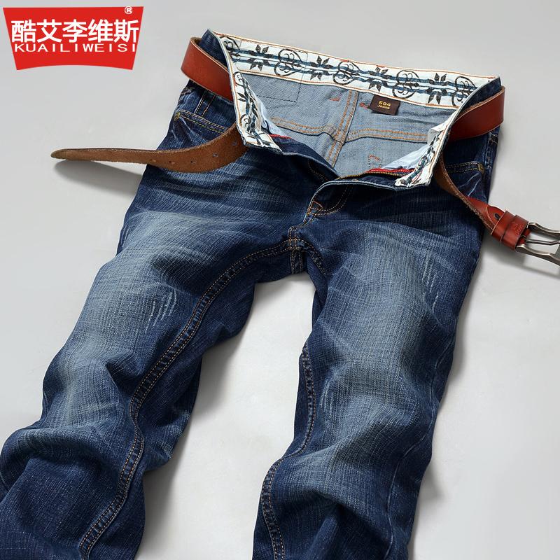 酷艾李维斯男装牛仔裤男韩版弹力修身小脚大码青少年男长裤子潮
