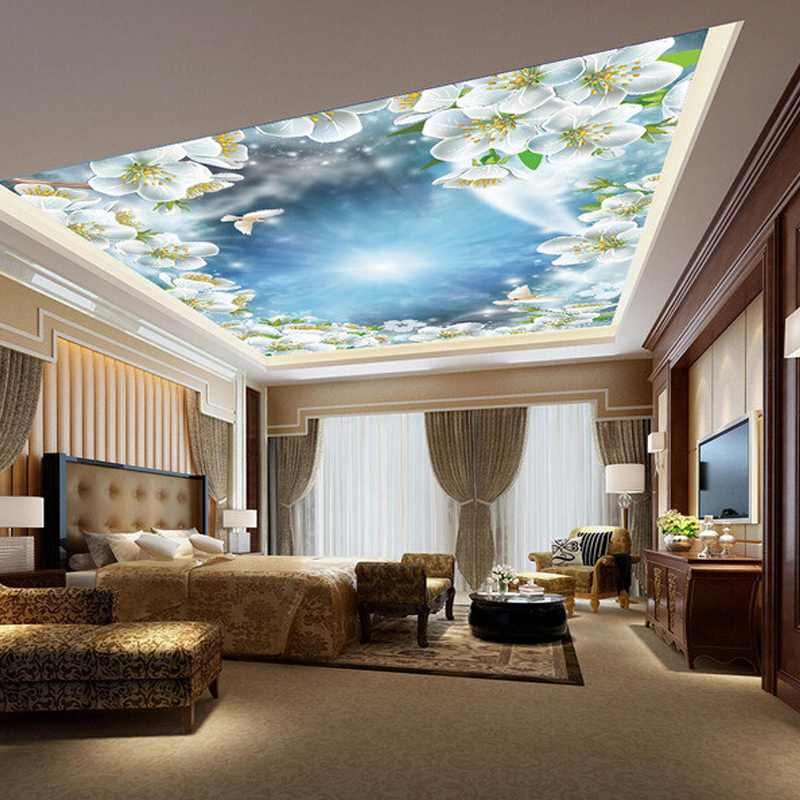 Buy european 3d three dimensional ceiling ceiling roof for 3d roof wallpaper
