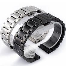 实心不锈钢表带 男 女钢带14 15 16 17 18 19 20 21 22mm精钢表链