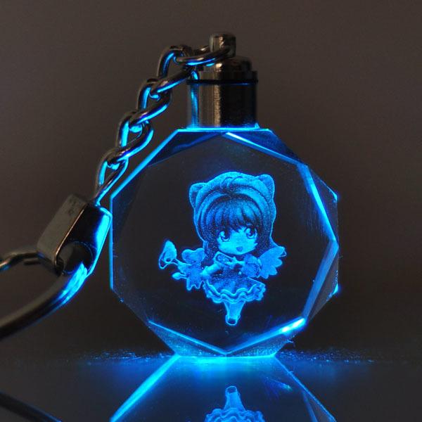 帝王少女樱百变小樱魔法阵小夜灯发光水晶挂饰动漫周边 定制礼物