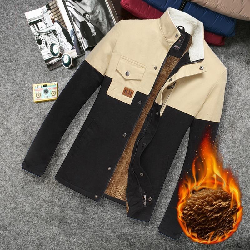 常规修身青年男士棉服加厚男装棉袄立领新款秋冬时尚都市拉链棉衣