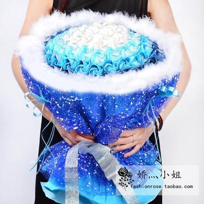 包邮DIY手工99朵川崎折纸玫瑰花束材料包成品情人节礼物生日礼物