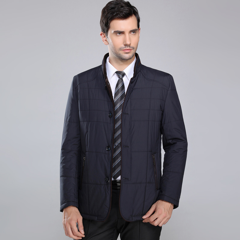 男士外套棉服新款韩版男装中年加厚冬装爸爸丝棉常规标准休闲棉衣