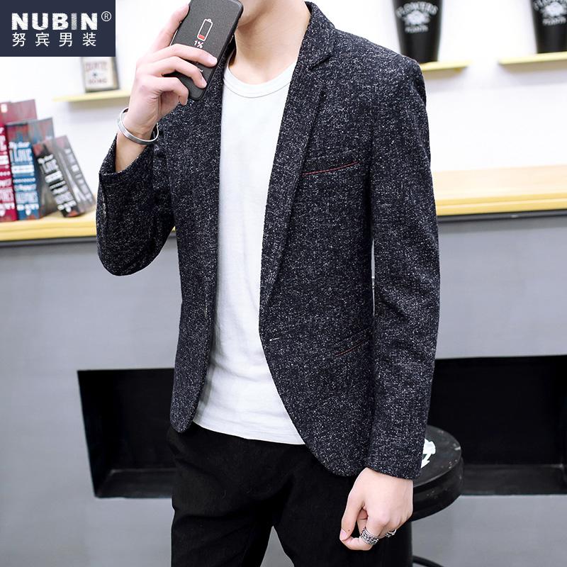 2016新款男士休闲单西装修身潮韩版青少年小西服帅气外套青春流行