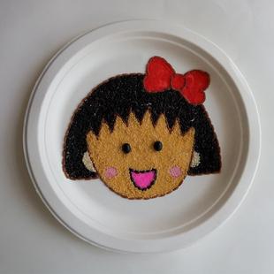 幼儿手工豆子diy贴画亲子益智玩具楼盘暖场活动材料包樱桃小丸子