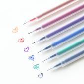 三年二班●韩国文具用品 简约透明磨砂水彩笔中性笔  0.5mm水笔