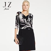 气质包臀连衣裙 新款 JZ专柜正品 优雅印花修身 2016春装 玖姿集市店