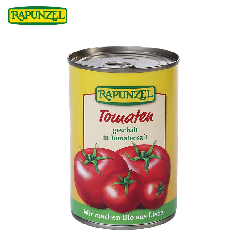 Rapunzel德国长发乐烹公主进口天然去皮番茄罐头400g特价