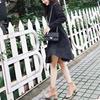 小米家 新品高丝光反毛皮 粗跟百搭女短靴保暖圆跟短靴 特