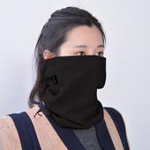 户外围脖抓绒多功能男女士冬季加厚保暖套头骑行脖套防风围巾面罩