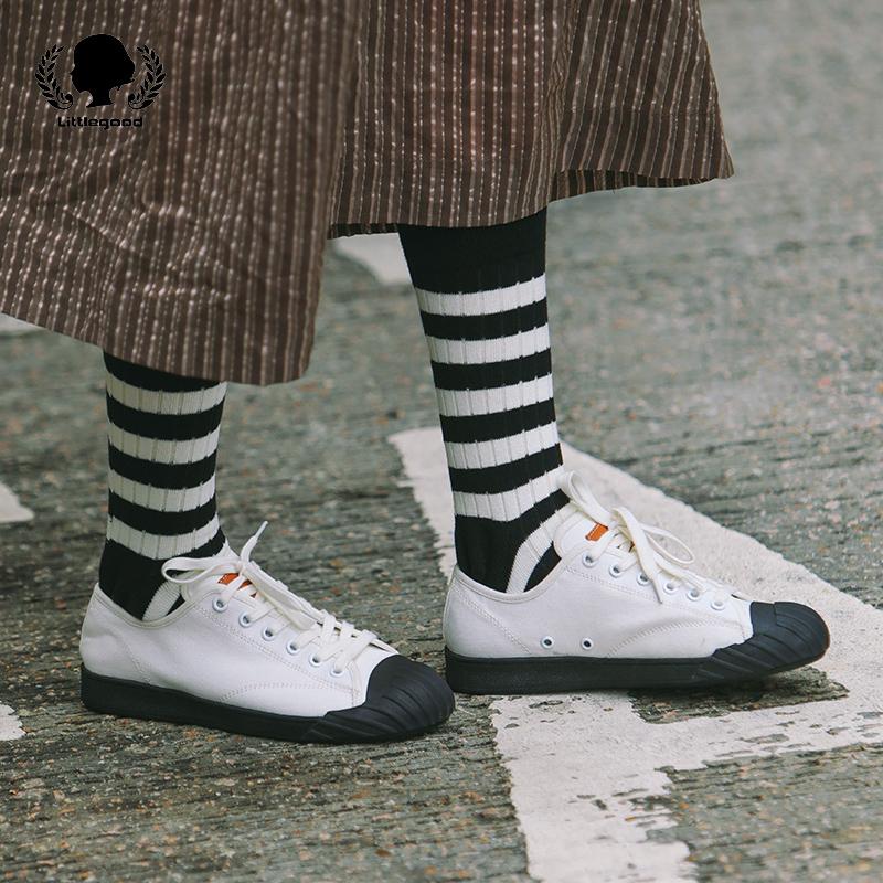 日系小白鞋女系带硫化运动鞋帆布鞋单鞋平底圆头低帮鞋