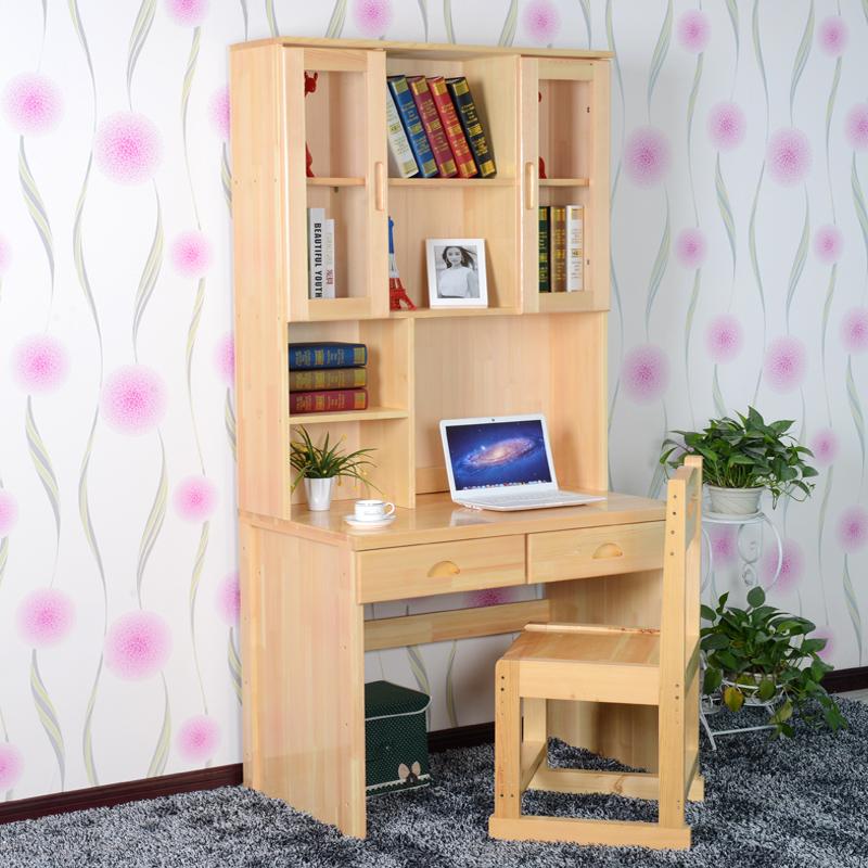 新款特价松木家具松木电脑桌书桌儿童书架实木书柜组合台式特价