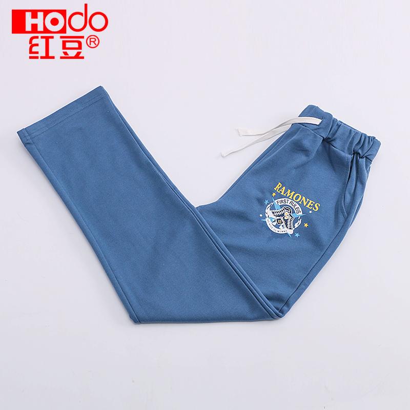 学生运动儿童红豆男童春秋中大童长裤纯棉长款底裤