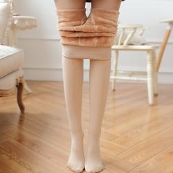 秋冬季光腿神器韩国加绒加厚肉色打底裤女肤色连裤袜显瘦保暖裤