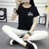 短袖t恤女宽松韩版创意字母半袖体恤上衣学生女装百搭夏装新款潮
