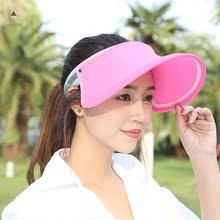 防紫外线太阳帽防晒帽夏季遮阳帽出游遮脸空顶户外百搭帽子女夏天