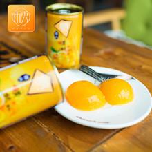 禾秀 对开砀山糖水黄桃罐头425g*6整箱砀山新鲜水果出口包邮