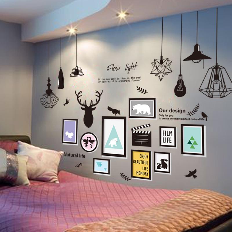 贴纸3D立体墙贴墙壁纸墙纸自粘宿舍床头温馨装饰卧室客厅贴画学生