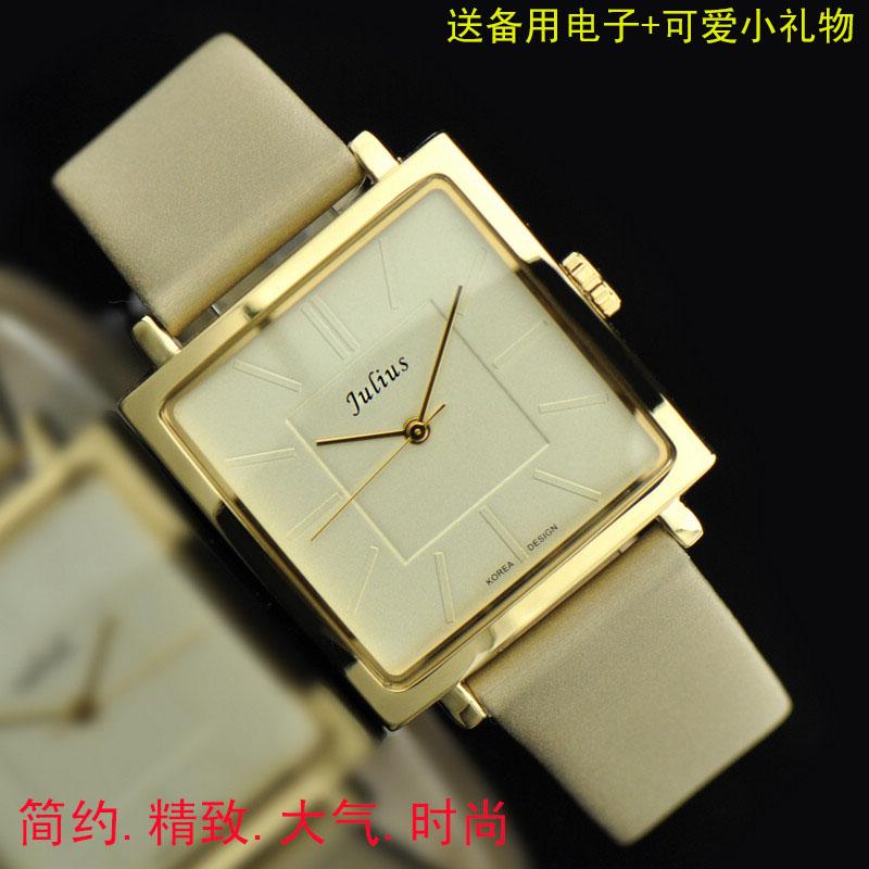 正品韩国聚利时Julius女表时尚大气方形OL英伦女士手表时装表包邮