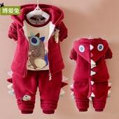 童装婴儿童冬装套装0-1-2-3岁女孩小男孩宝宝加厚加绒新款三件套