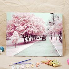 非之语加厚框DIY数字油画客厅风景花卉动漫人物手绘油彩装饰画