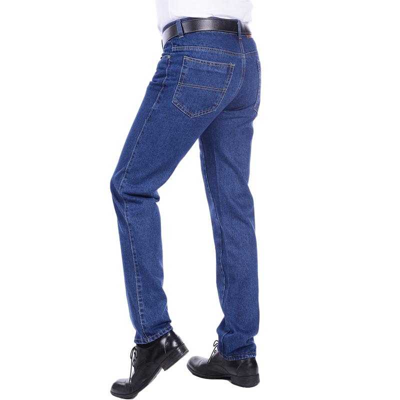 秋款中老年男牛仔裤工作服纯棉男装直筒厚款长裤电焊劳保工装包邮