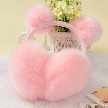 韩版冬季可爱蝴蝶结耳罩 兔耳朵毛耳包时尚冬天耳罩保暖耳罩护耳