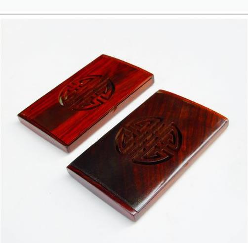木雕工艺品:越南红木名片盒(方形)花梨木镂空名片夹只要10.9元