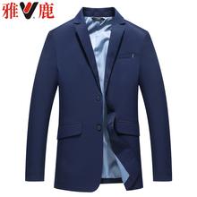 雅鹿男装品牌春季新款中老年男士西装 休闲修身西服上衣单西外套图片