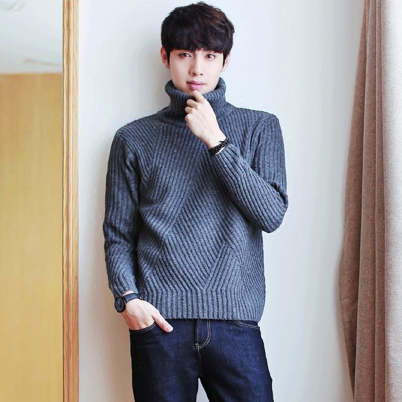 纯色高领打底衫加厚两翻领毛衣时尚韩版