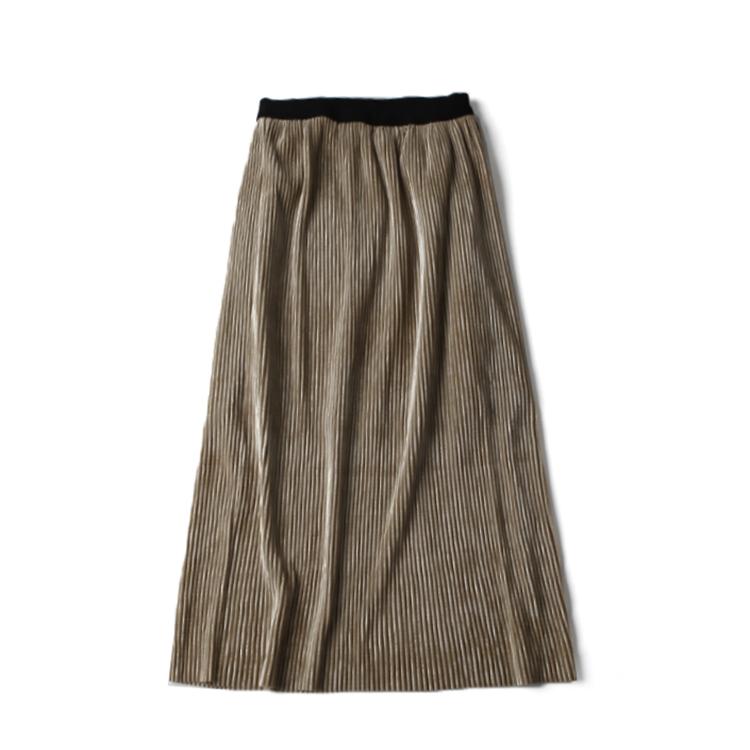 春季新款女装 时尚修身弹性腰包臀百褶中裙 D@20-C10-2013#