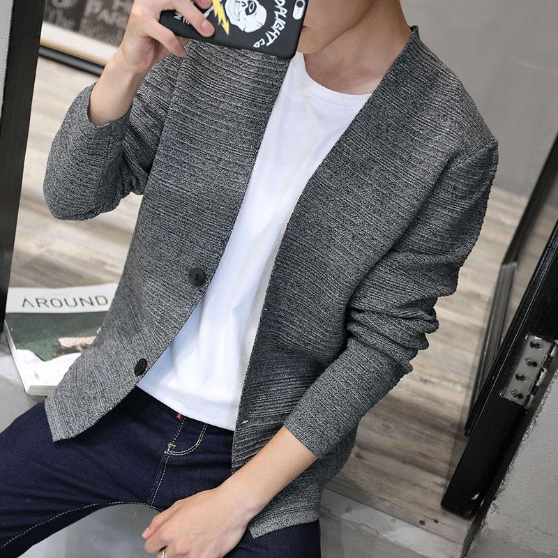 针织外套男装毛衣时尚青年男士衫男韩版秋冬上衣修身开衫