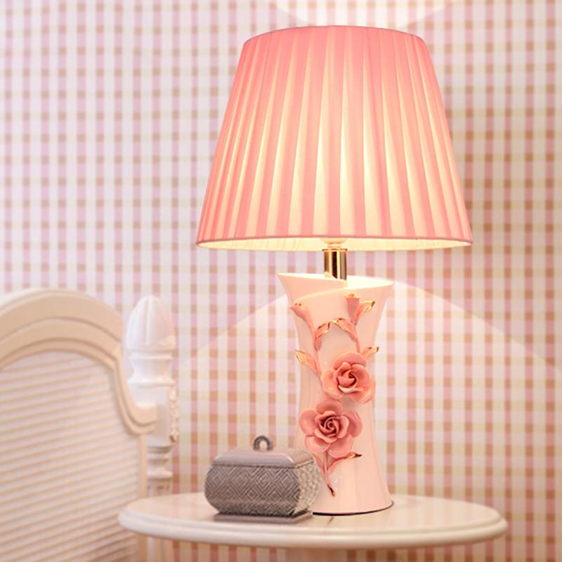 现代简约新婚庆婚房陶瓷台灯欧式浪漫结婚床头灯卧室