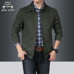专柜正品AFS JEEP男装夹克外套男士翻领商务休闲厚款上衣茄克衫男