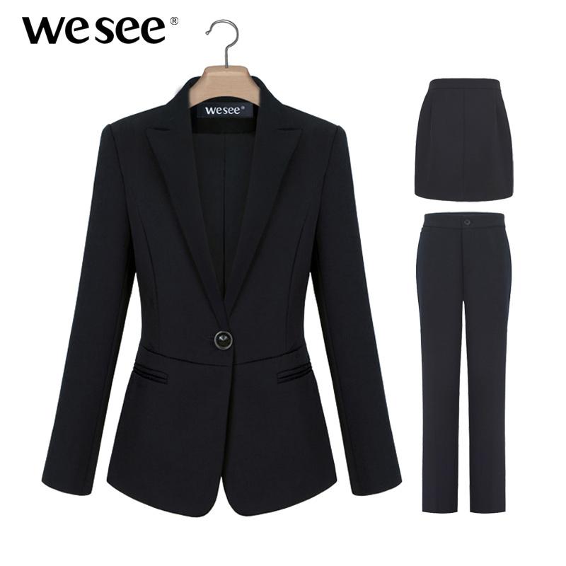职业装女装套装秋冬季西装套装女修身正装韩版西服三件套ol工作服