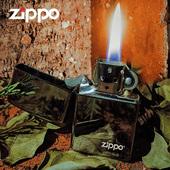 原装正版zippo打火机纯铜芝宝正品煤油防风男士刻字黑冰限量150
