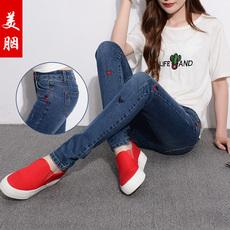 2017新款秋牛仔裤修身显瘦